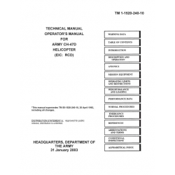 Boeing Apache Helicopter CH-47D Helicopter TM 1-1520-240-10 Technical/Operator's Manual