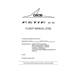 Astir CS Grob Flight Manual & Repair Instructions G 102 POH $2.95