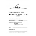 Astir CS Jeans Grob Flight Manual G 102 POH $2.95