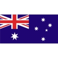 "Australia's Flag Decal Vinyl/Sticker 8"" wide! Left & Right"