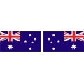 "Australia's Flag Decal Vinyl/Sticker 4.5"" wide! Left & Right!"