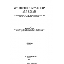 Automobile Construction and Repair Manual $4.95