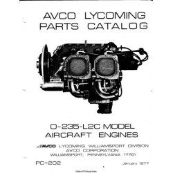 Avco Lycoming O-235-L2C Aircraft Engines Parts Catalog 1977 $9.95 Part # PC-202