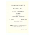 Lycoming TO-360 Series Aircraft Engines 60297-20 Operator's Manual 1976 $9.95