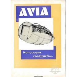 Avia 34, 35, 51, 53, 56, 57 & 122 Monocoque Construction Manual $4.95