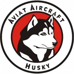 Aviat Aircraft Husky Red Decal/Sticker !