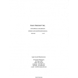 Aviat Pitts S-2B Aircraft Owner's and Maintence Manual Part # 70197-001 $5.95
