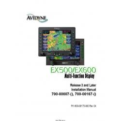 Avidyne EX500/EX600 Multi-Function Display Installation Manual 600-00175-000 Rev 04 $9.95