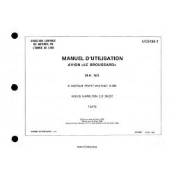 Avion Broussard M.H.1521 UCE104-1 Pilot Operating Handbook 1963 - 1983 $5.95