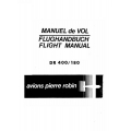 Avions Pierre Robin DR 400/180 Regent Flight Manual/POH 1972 $4.95