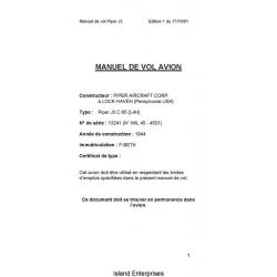 Avion Piper J3 C 65 (L4H) Manual de Vol 2001 $5.95