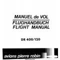 Avions Pierre Robin DR 400/120 Petit Prince Flight Manual /POH 1975 $4.95