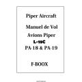 Avions Piper L-18C PA-18 & PA-19 Manuel de Vol $5.95
