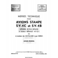 Avions Stampe SV-4C et SV-4B Notice Technique 1948