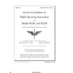 B-25C & B-25D Airplanes R-2600-13 Engines T.O 01-60GB Pilot's Handbook of Flight Operating Instructions
