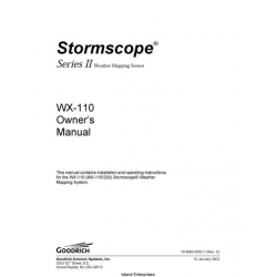 B.F Goodrich WX-110 Stormscope Series II Weather Mapping Sensor Owner's Manual 2002 $9.95