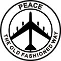 B-52 Peace The Old Fashioned Way Aircraft Logo,/Decals!