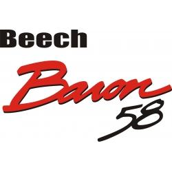 Beech Baron 58 Aircraft Logo,Decals!