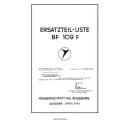 Messerschmitt BF 109F Ersatzteil-Liste Parts Manual 1941 $9.95