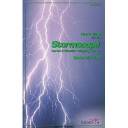 B.F Goodrich WX-500 Stormscope Series II Weather Mapping Sensor User's Guide 1997 - 2001 $9.95