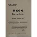 Messerschmitt BF 109 G Exerzier-Karte