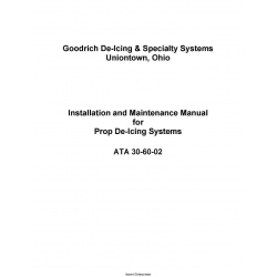 B.F Goodrich Prop De-Icing Systems ATA 30-60-02 Installation and Maintenance Manual 2002 $9.95