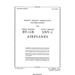 Vultee BT-13B and SNV-2 Airplanes Pilot's Flight Operating Instructions $4.95