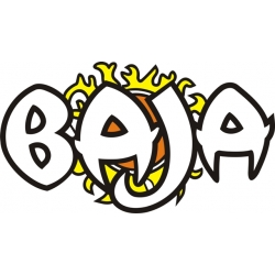 Baja Rising Sun Boat Logo,Decals!