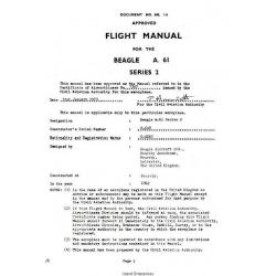 Beagle A-61 Series 2 Flight Manual/POH 1973 $5.95