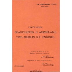 Beaufighter II Aeroplane Two Merlin XX Engines Pilot's Notes