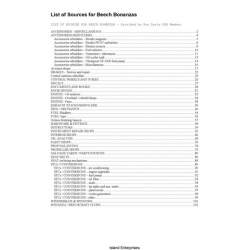Beech Bonanzas Repair List of Sources $9.95