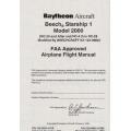 Beech Starship 1 Model 2000 Airplane Flight Manual/POH 1993 - 1999 $13.95