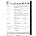 Beechcraft 24,33,35,36,55,56TC,60,95,99 Service Instructions $13.95