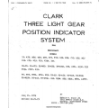 Beechcraft Models 35 A to R, 95 A to E, 56TC Clark Three Light Gear Position Indicator System $9.95
