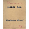 Beechcraft D-18 Maintenance Manual Rev.1955