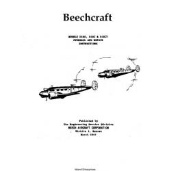 Beechcraft D18S, D18C & D18CT Overhaul and Repair Manual 1947 $13.95