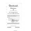 Beechcraft Mustketeer 23 Operating Handbook and Flight Manual 1980-1994  $9.95
