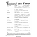 Beechcraft Service Instructions Various Models $9.95