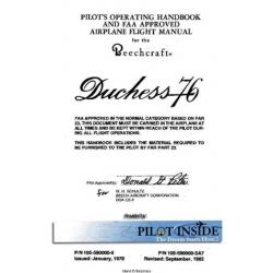 Beechcraft Duchess 76 Pilot's Operating Handbook & Airplane Flight Manual  1978-1983 105-590000-5A7