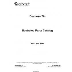 Beechcraft  Duchess 76 Ilustrated Parts Catalog 105-590000-9C5 $29.95