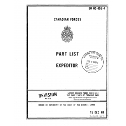 Beechcraft  D-18 RCAF Expeditor 3 Series (3N, 3NM, 3T and 3TM) Parts List  1961-1970  $19.95
