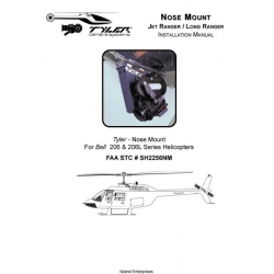 Bell 206 and 206L Series Helicopters Jet Ranger/ Long Ranger Camera Installation Manual 1983 - 1995 $4.95