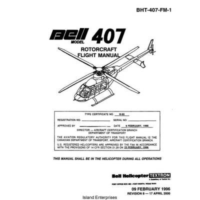 Bell 407 Rotorcraft Flight ManualPOH 1996  2000  995