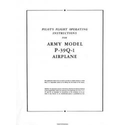 Bell Aircobra P-39Q-1 Airplane Pilot's Flight Operating Instructions