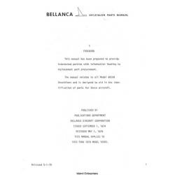 Bellanca Decathlon 8KCAB Parts Manual 1972 - 1979 $9.95