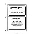 Bendix King KT 76A 78A ATCRBS Transponder Maintenance Manual 006-05143-0007 $13.95