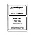 Bendix King KLN 35A GPS Receiver Installation Manual 006-10518-0001 $19.95