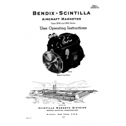 Bendix-Scintilla SF4R & SF4L Series Magnetos, parts/adjustments $6.95