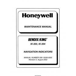 Bendix King KI 203, KI 204 Navigation Indicators Maintenance Manual 006-15636-0005 $29.95