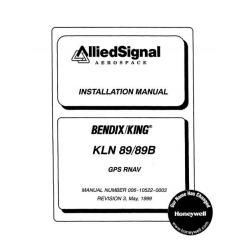 Bendix King KLN 89/89B GPS RNAV Installation Manual 006-10522-0003 $29.95